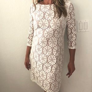 VINCE CAMUTO LACE FITTED DRESS